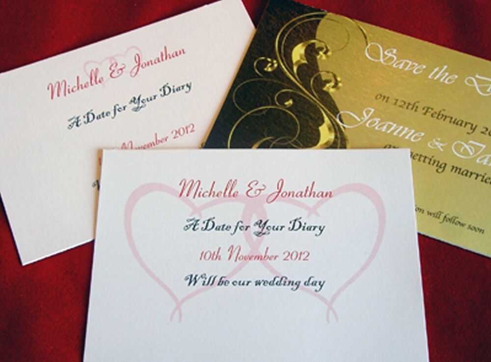Personalised Save The Date Cards Wedding Civil Ceremony