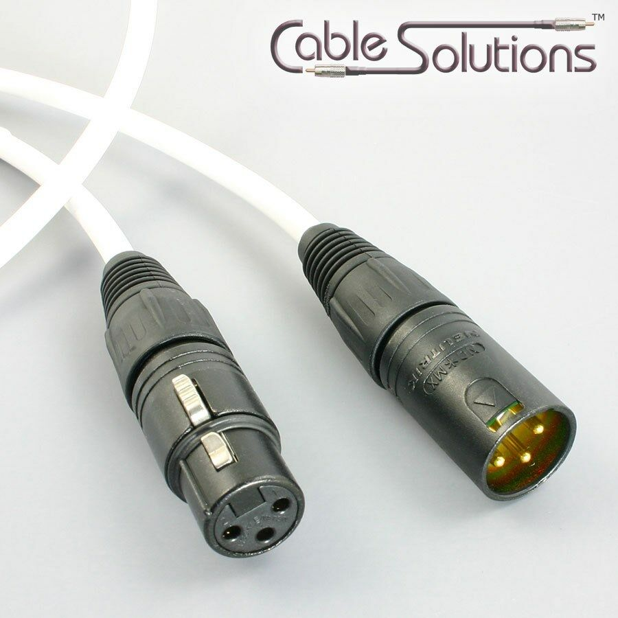 canare l 4e6s balanced xlr audio interconnect cable white ebay. Black Bedroom Furniture Sets. Home Design Ideas