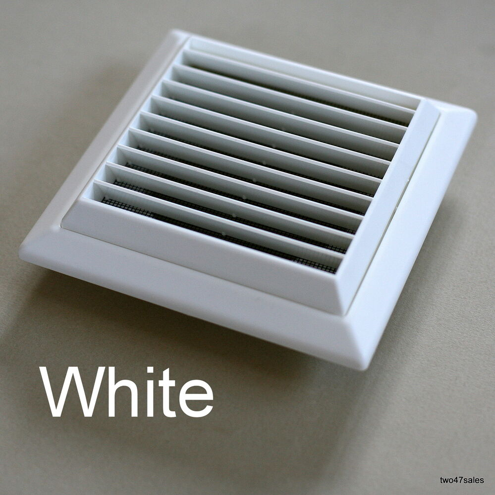 outside vent grille white wall ventilation vent damp mould louvred grill air ebay. Black Bedroom Furniture Sets. Home Design Ideas