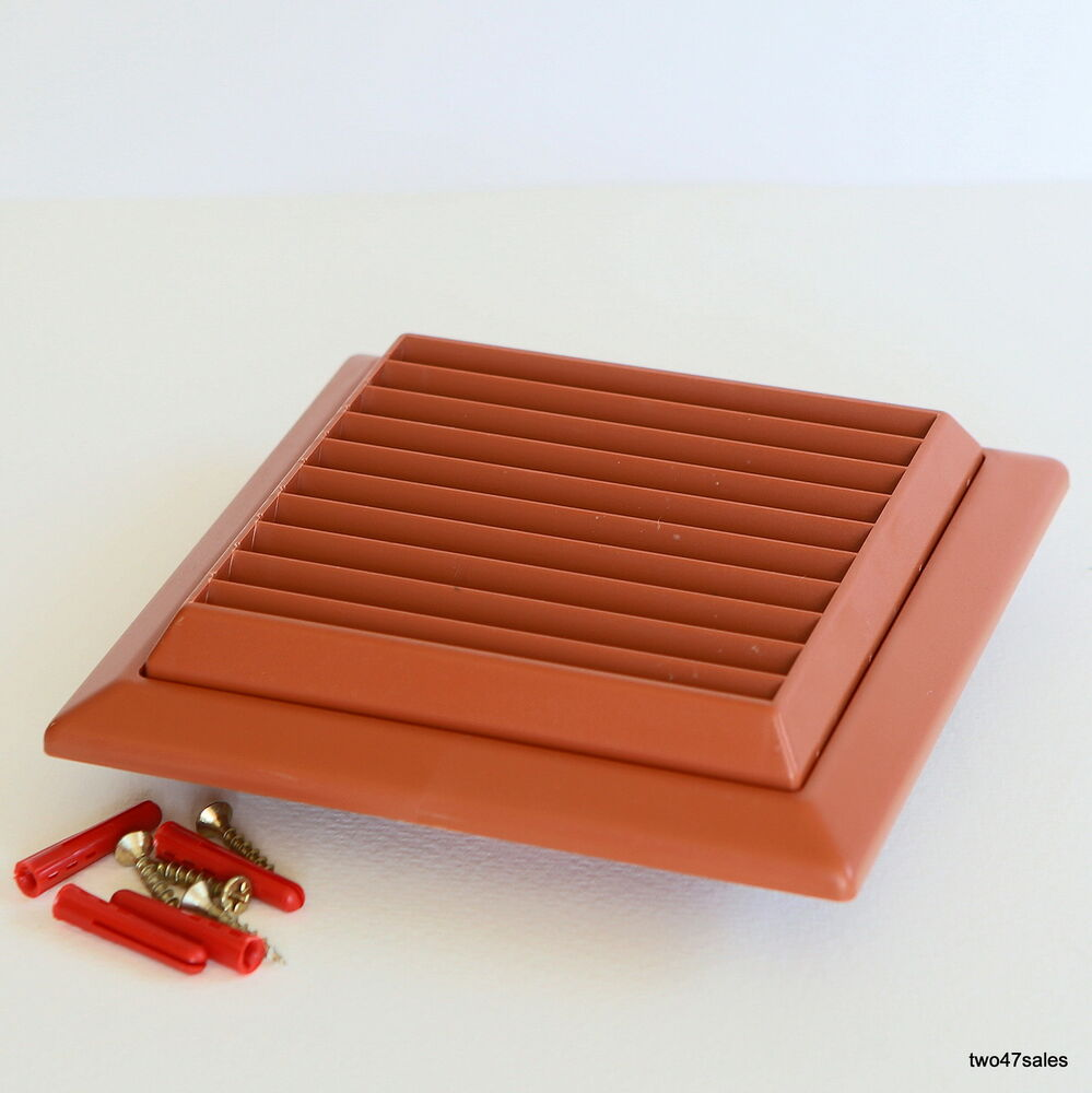 Outside vent grille terracotta wall ventilation vent damp mould louvred grill ebay - Grille ventilation hygroreglable ...