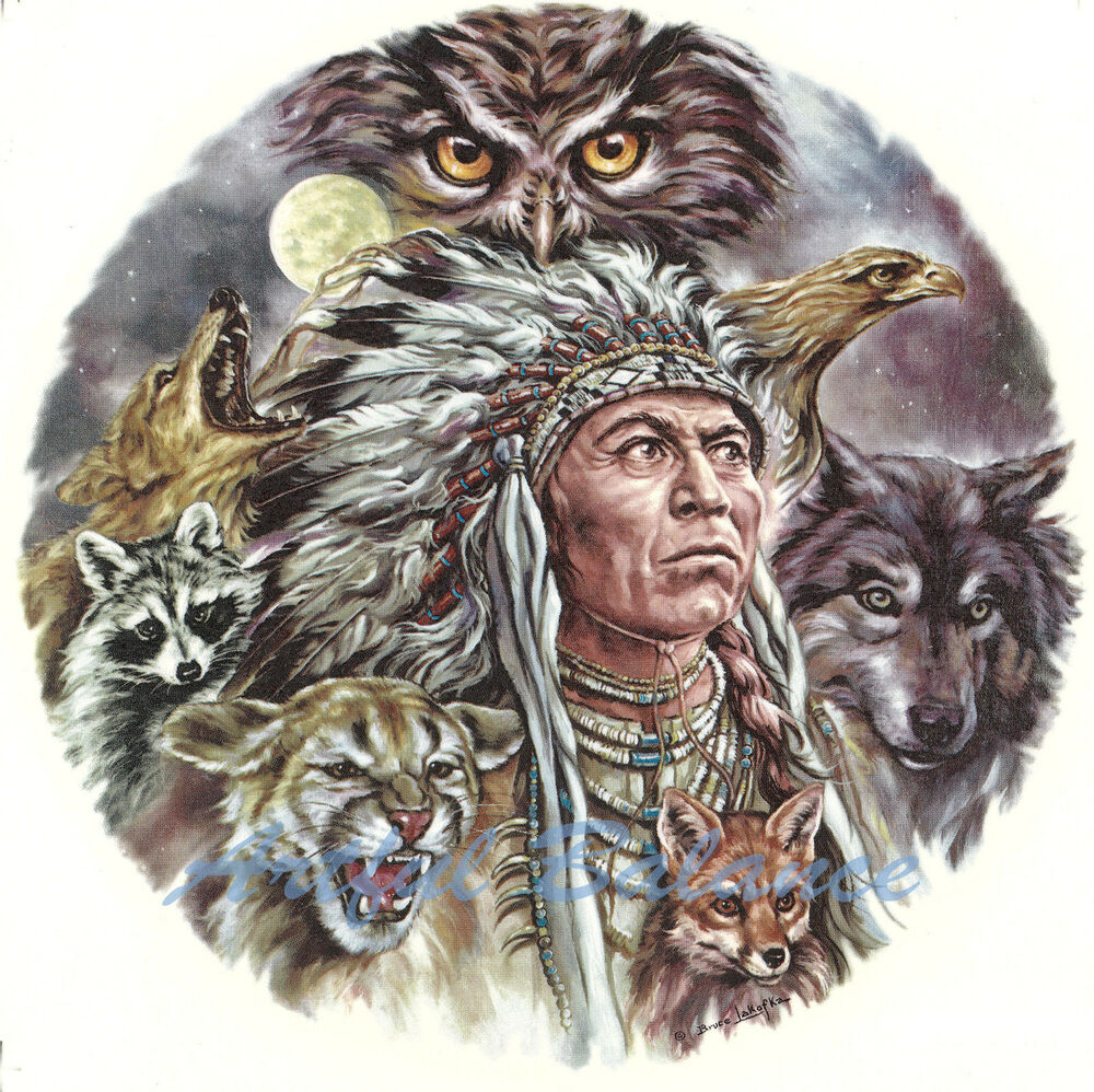 Ceramic Decals Night Eyes Sw Native American Indian Chief