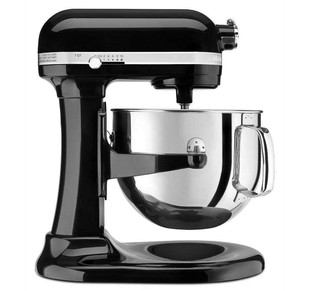 kitchenaid 7 quart super capacity rksm7581ob 7 quart bowl lift stand mixer black ebay. Black Bedroom Furniture Sets. Home Design Ideas