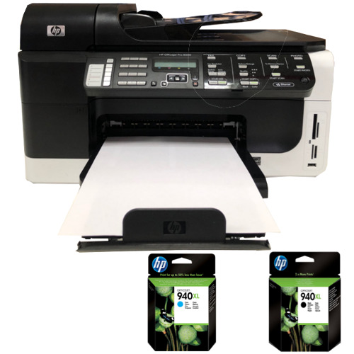 cb022a hp officejet pro 8500 drucker all in one fax pictbridge netzwerk kopierer ebay. Black Bedroom Furniture Sets. Home Design Ideas