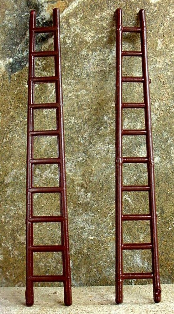 """Vintage """"Wooden"""" Fire Ladders 2 1 24 Scale G Scale"""