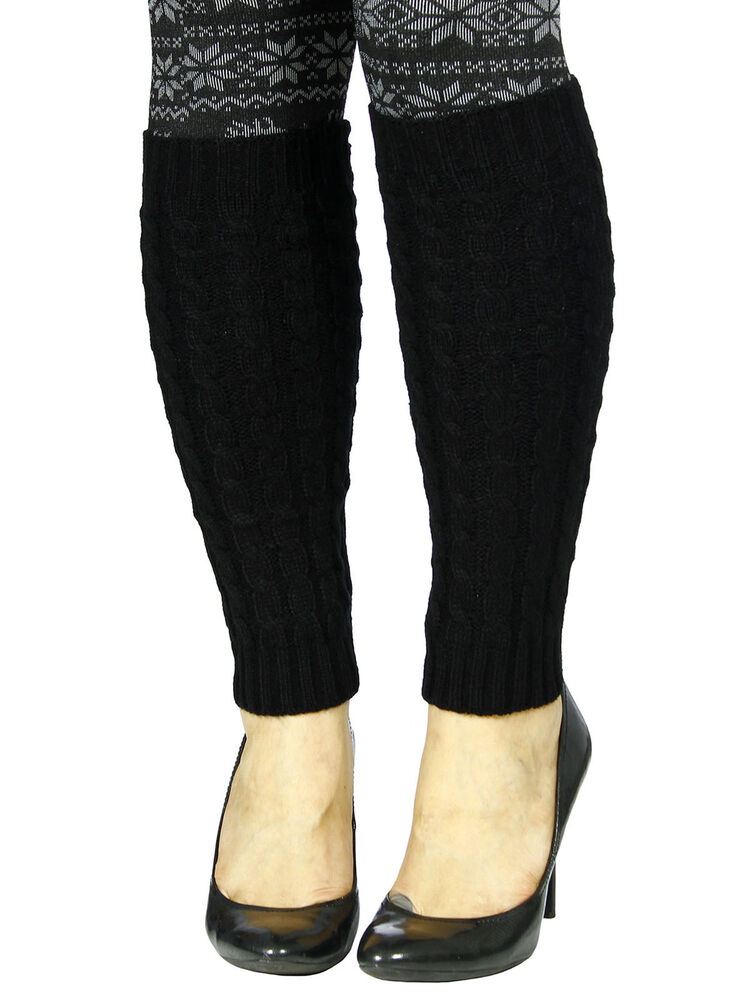 Unique Style Women Ladies Knee High Knit Winter Warm Leg ...