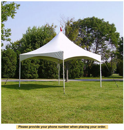 15 x 15 high peak frame tent for wedding outdoors event party catering
