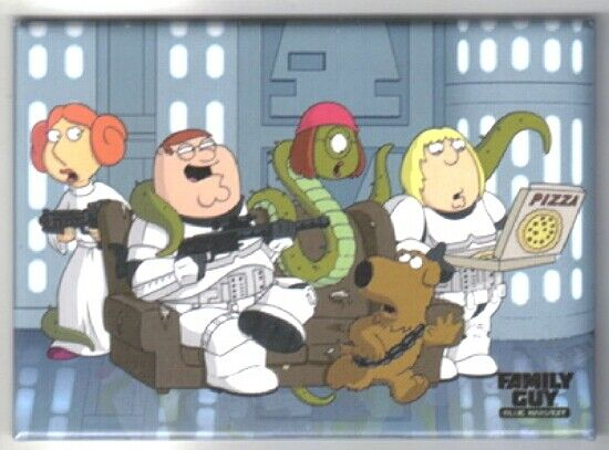The Family Guy Blue Harvest Family on a Couch Magnet Star Wars Spoof ... Family Guy Blue Harvest Couch