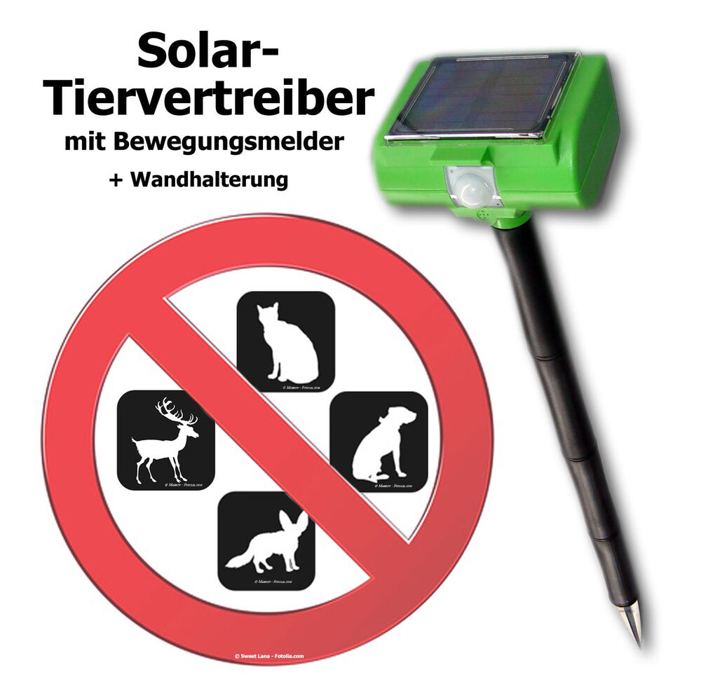solar hundeabwehr katzenabwehr hunde ultraschall hundestop katzenstop tierabwehr ebay. Black Bedroom Furniture Sets. Home Design Ideas