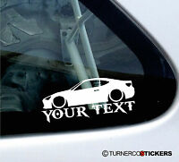 Custom Text ,LOW Toyota GT86 (86 GT / GTS) sticker / Decal