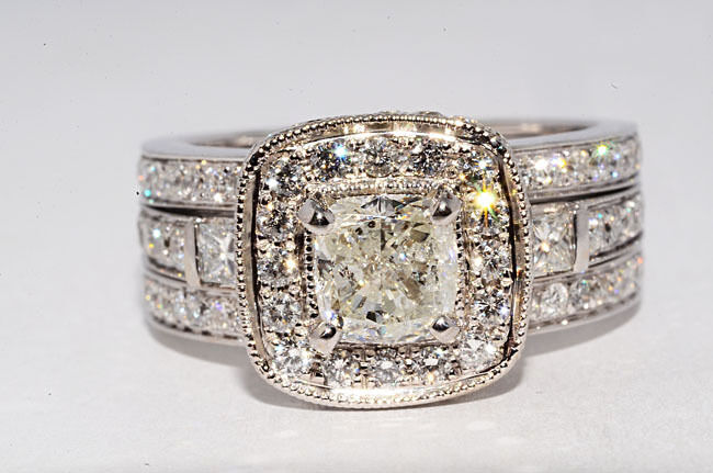 $20 000 2 17CT NATURAL DIAMOND ENGAGEMENT RING WITH INSERT RING SIZE 7 BEAUTI