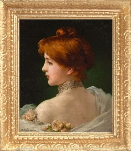 VICTORIAN WOMAN PORTRAIT Dollhouse Picture - Framed ...Victorian Woman Portrait