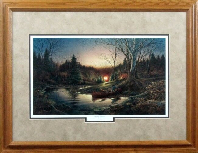 Morning Solitude Terry Redlin Camping Encore Framed Print