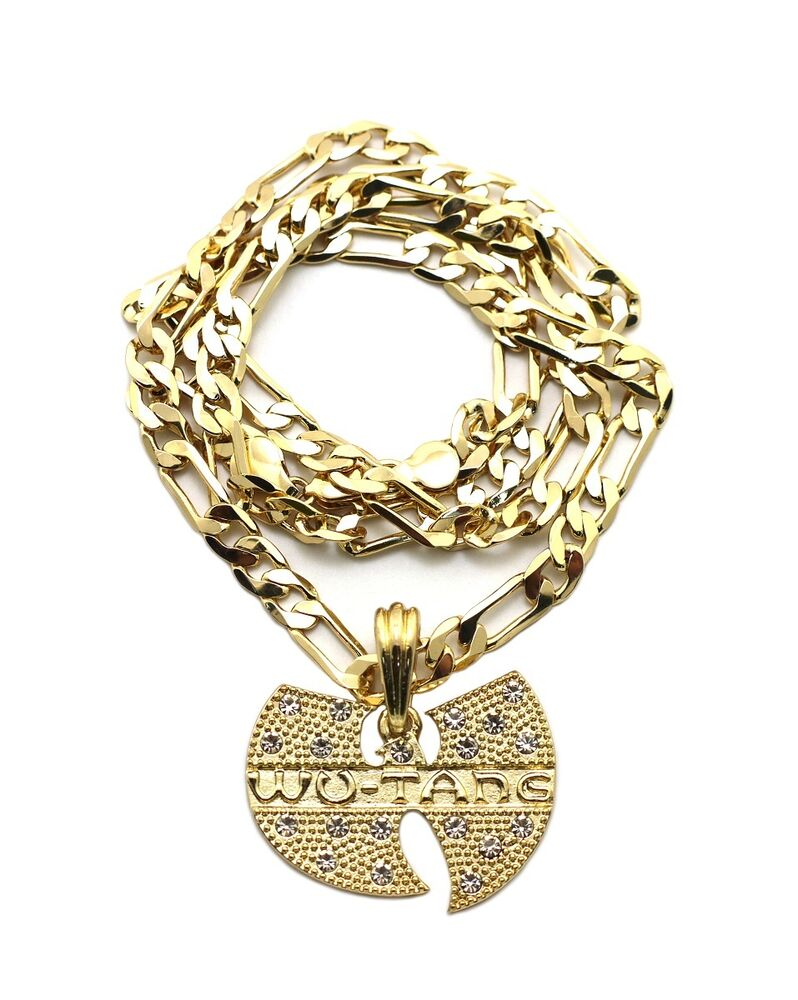 new iced out wu tang pendant 5mm 24 quot figaro chain hip
