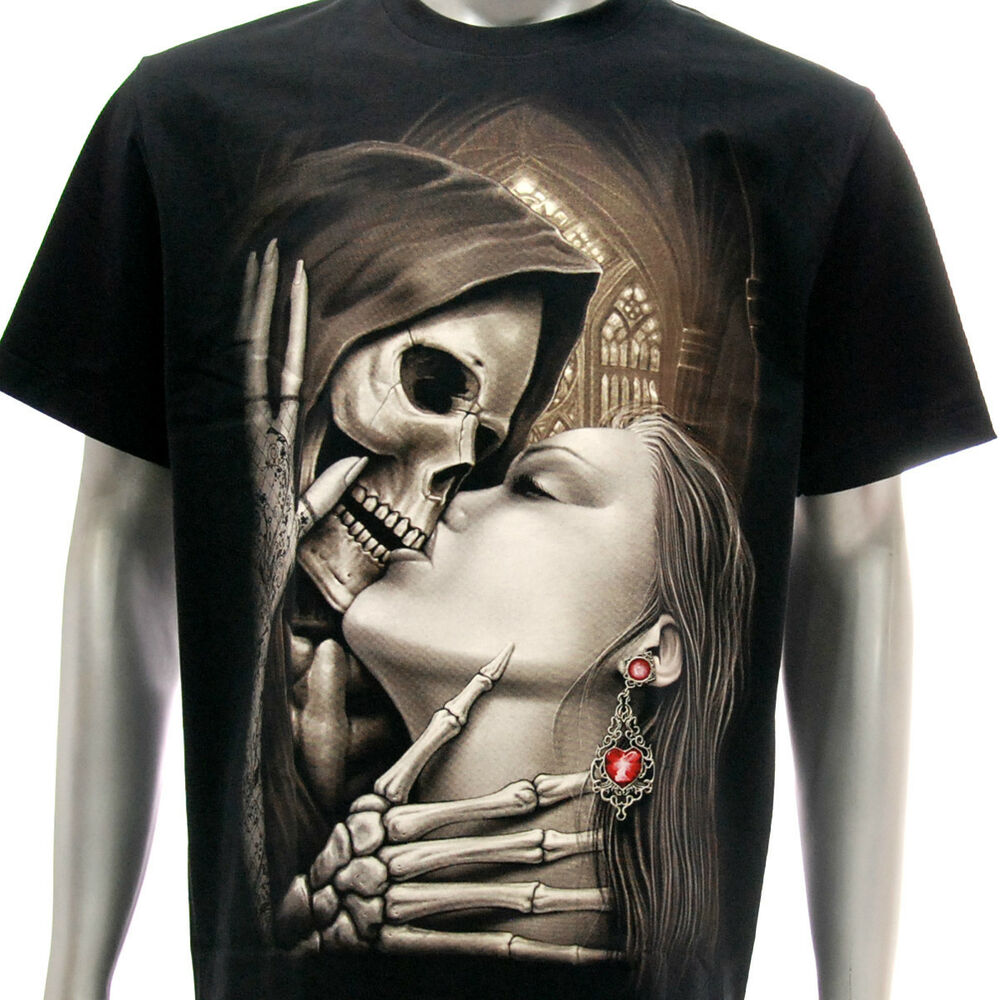 R60 Rock Eagle T-shirt Tattoo Grim Reaper Dead Skull Kiss