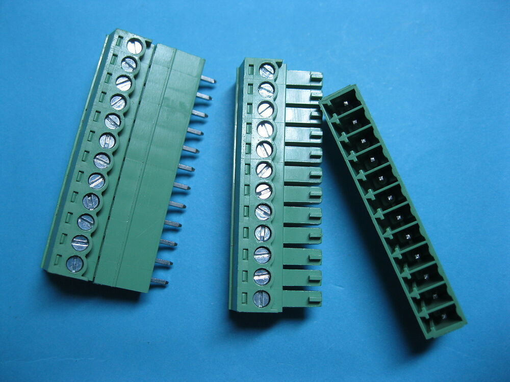 Pcs mm way pin screw terminal block connector