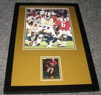 Ricky Watters Signed Framed 11x17 Photo Display SB 49ers Notre Dame