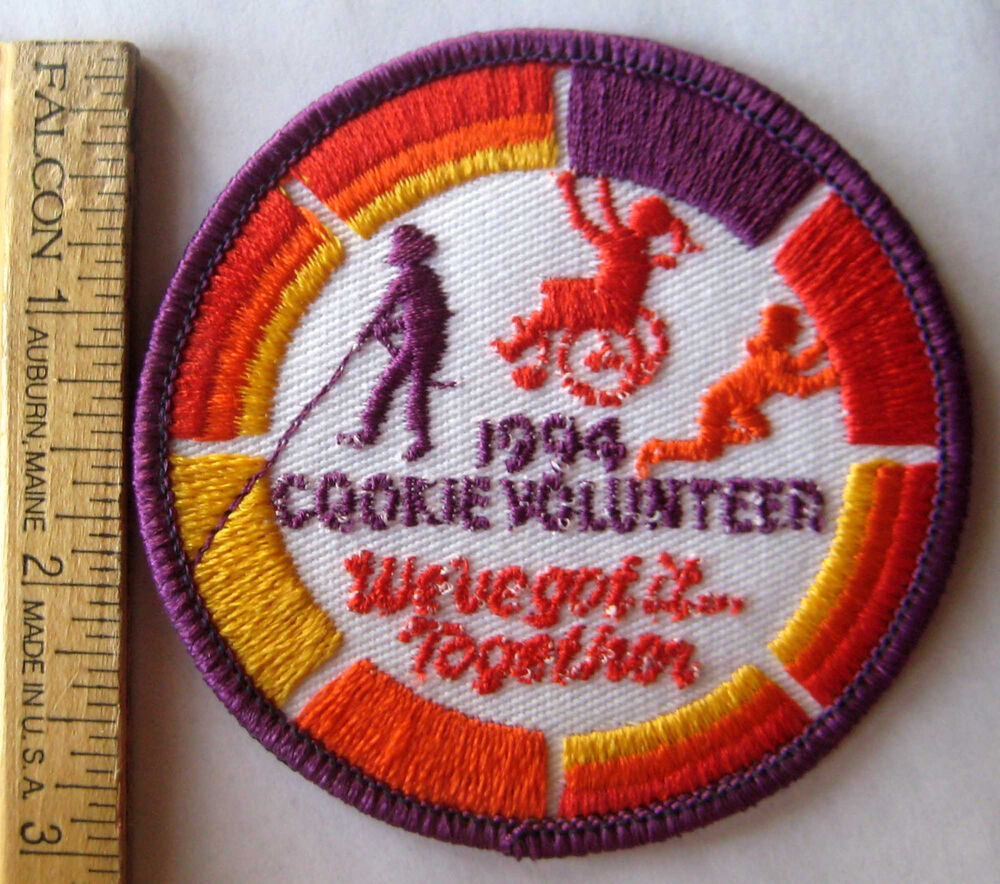 girl scout 1994 cookie sale volunteer patch we ve got it