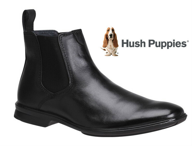 hush puppies chelsea mens leather boots shoes casual