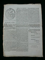 Batavian Republic 1801 Printed Proclamation - Soldiers Need Permission to Marry