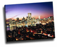 Lower Manhattan, Brooklyn Heights, New York Cityscape Giclee Canvas Picture Art