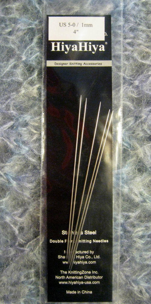 Knitting Needles Mm To Inches : Hiya size mm inch double point knitting