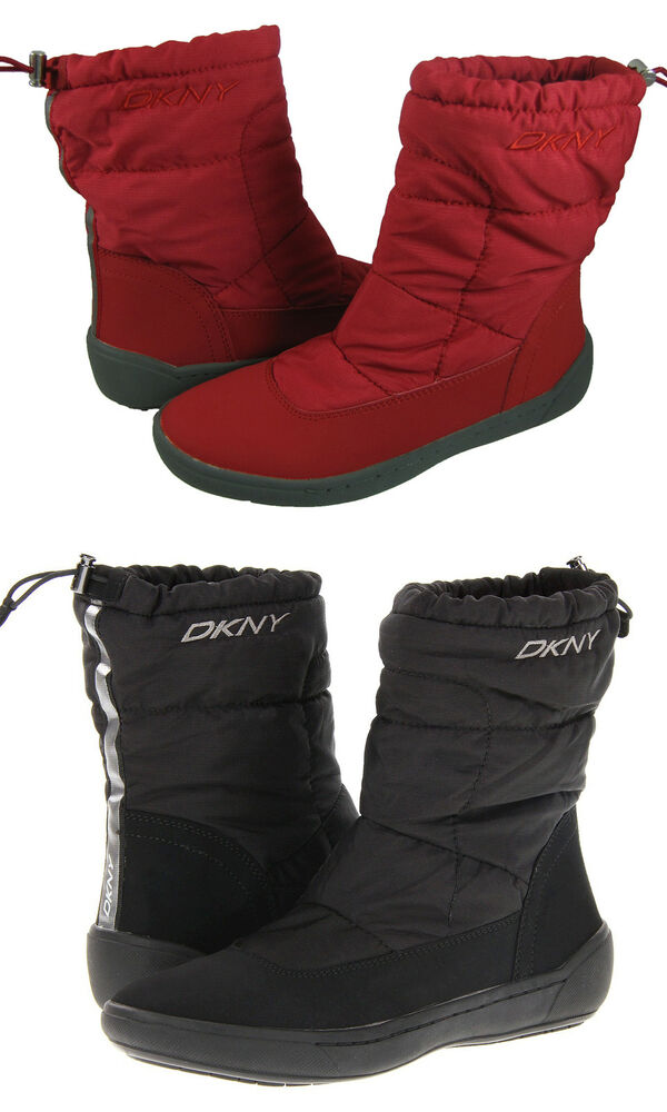 DKNY Womens Galileo Black Or Red Casual Slip-On Winter