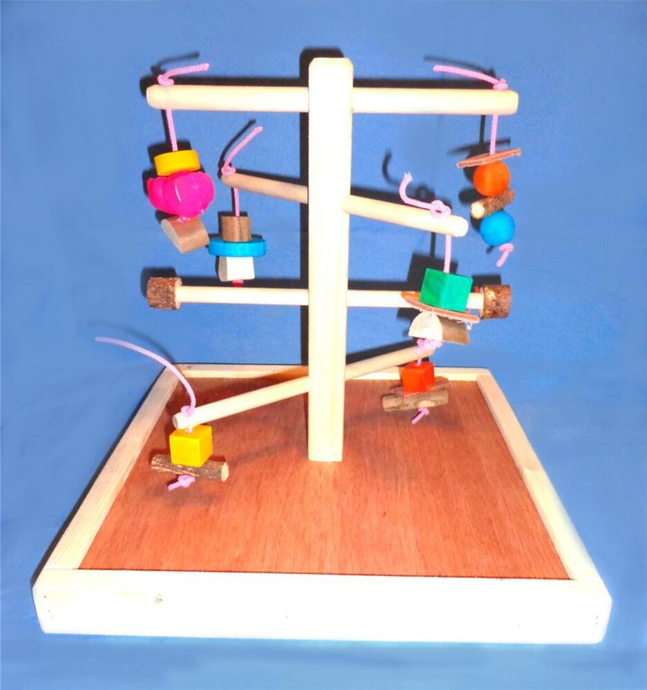 Wood Bird Toys : Wood play gym with base chew toys bird toy ebay