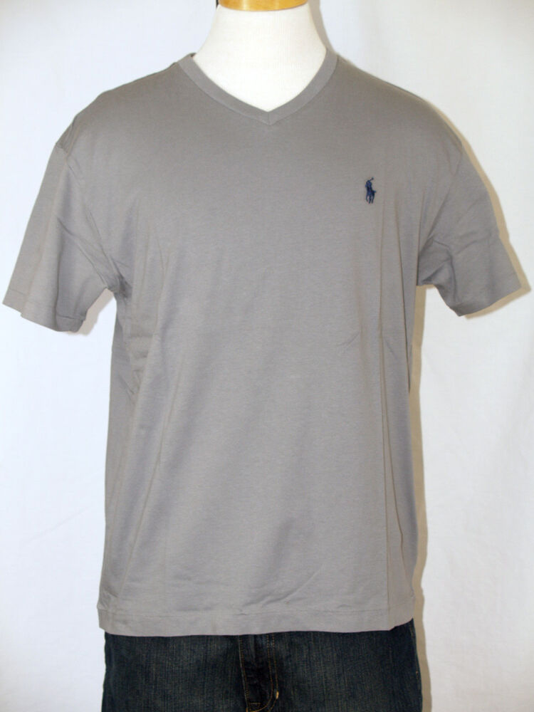 Polo Ralph Lauren Museum Gray V Neck T Shirt Polo Pony S M
