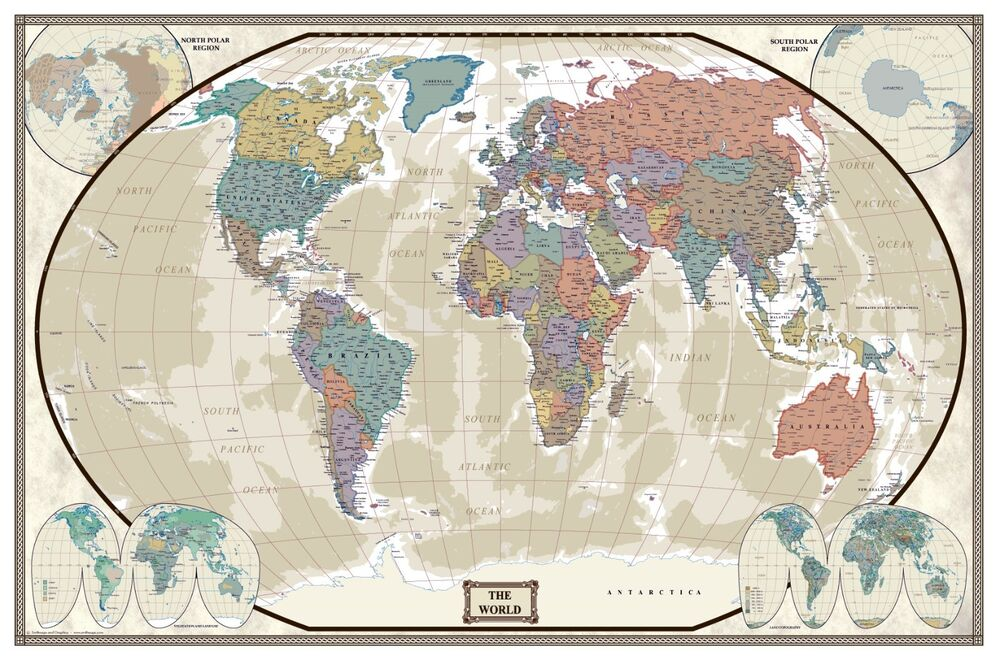 Image Result For Antique World Map Canvas
