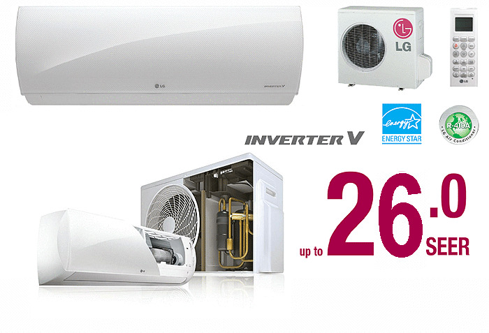 12000 Btu Lg Ductless Mini Split Air Conditioner Seer 26
