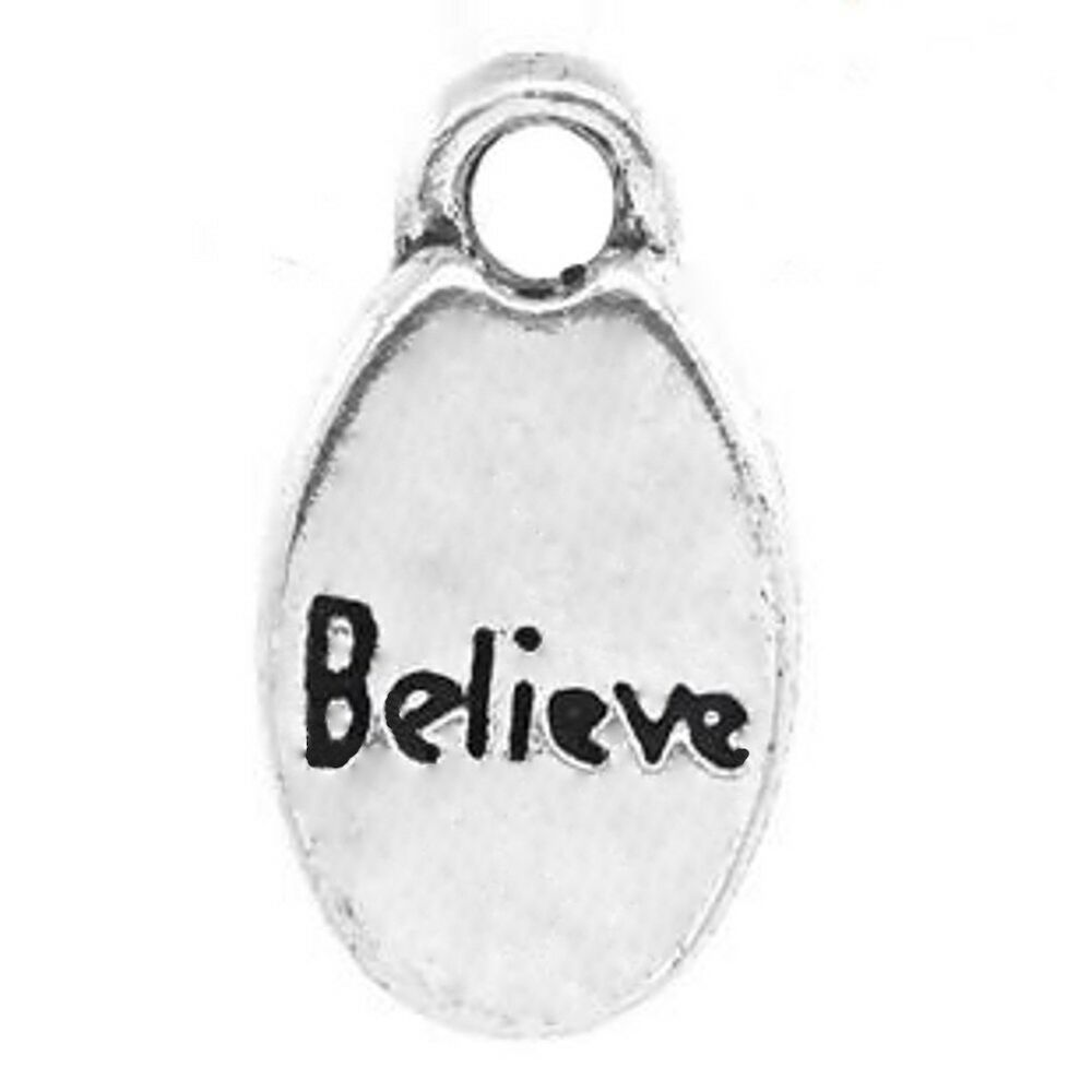 word charms believe pendants silver awareness jewelry