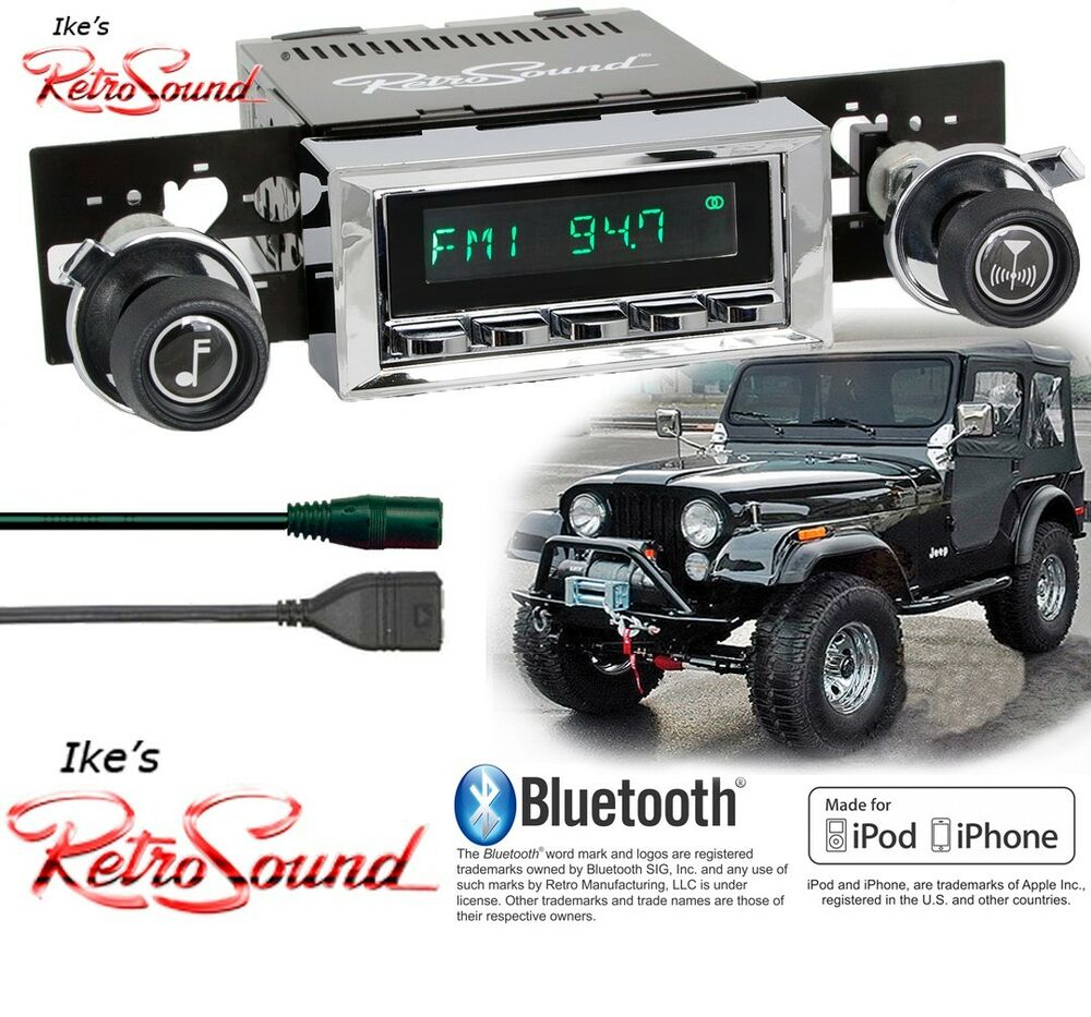 Retro Sound Jeep CJ5,CJ7,Scrambler Long Beach-C Radio