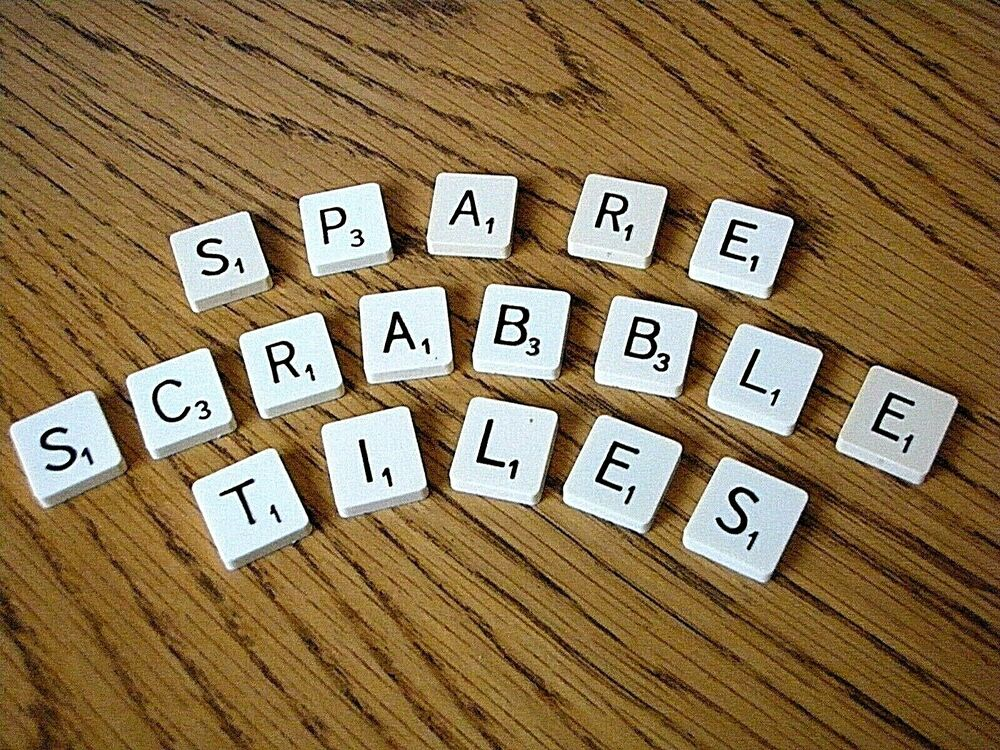 scrabble tile replacements spares plastic round or square backed