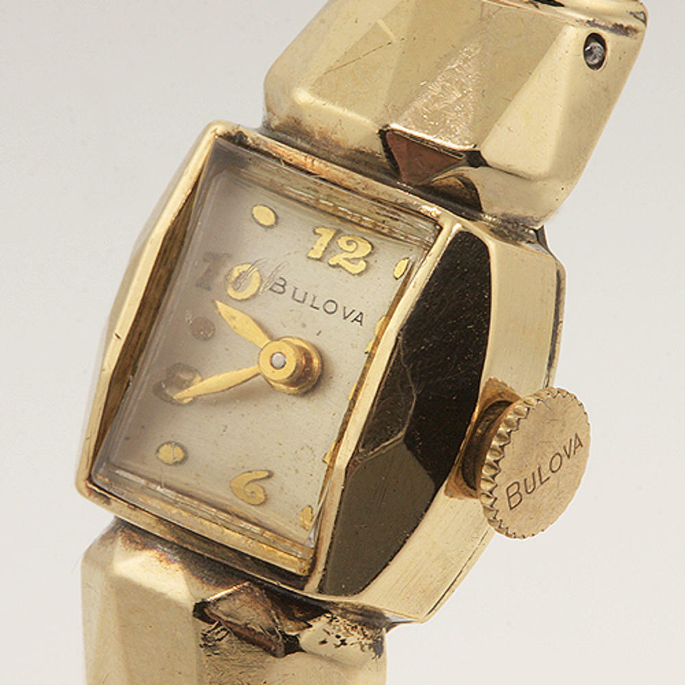 Ladies authentic manual bulova gold filled bangle watch ebay for Ladies bangle watch