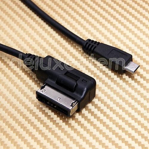 Vw Mdi Ipod Cable Audi Mmi Cable For 4f0051510k: AUDI Music Interface (MDI) Micro USB Aux Cable Cord For