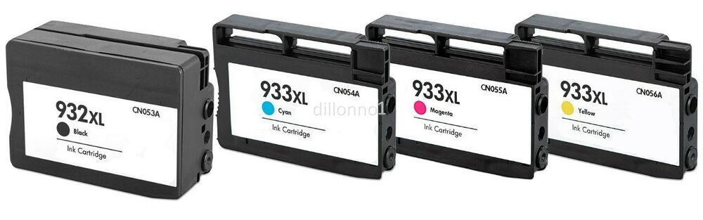 4pk for hp ink cartridges for hp 932 xl 933 xl officejet pro 6100 6600 6700 ebay. Black Bedroom Furniture Sets. Home Design Ideas