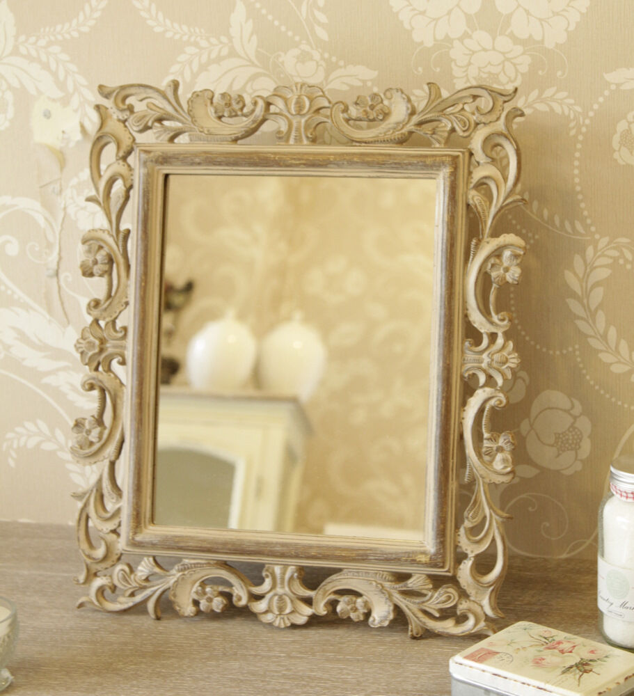 carved wood style mirror ornate shabby chic rococo. Black Bedroom Furniture Sets. Home Design Ideas