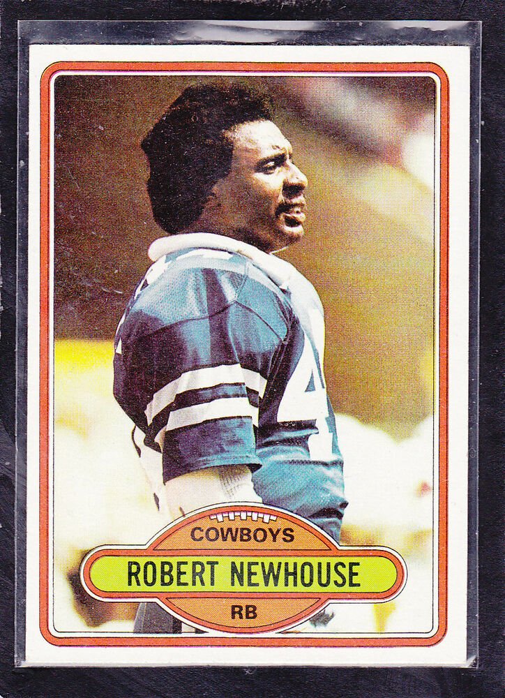 1980 robert newhouse topps football card 413 dallas