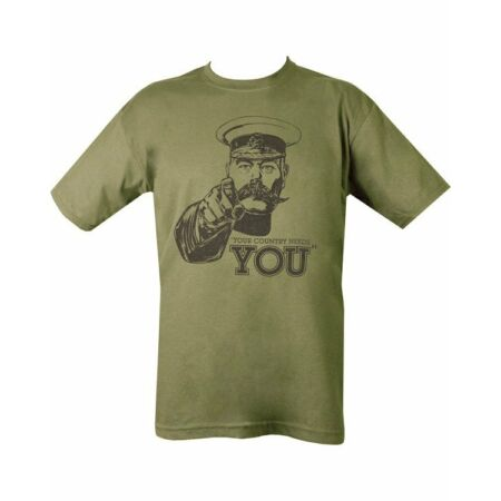 img-Military Army Combat Printed Kitchener Your Country Needs You Green T-shirt New