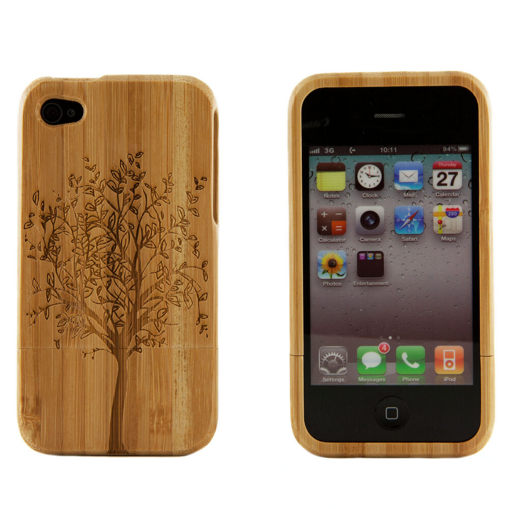 cases for iphone 4s apple iphone 4 4s 4g genuine bamboo wood engraved 13753