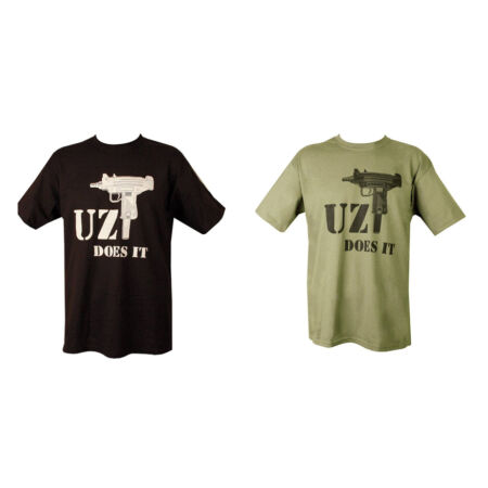 img-Military British Army Combat Printed T-Shirt Uzi machine Gun Iraq Infidel AK-47