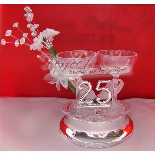personalised silver wedding cake toppers 25th silver wedding anniversary cake topper decoration 18223