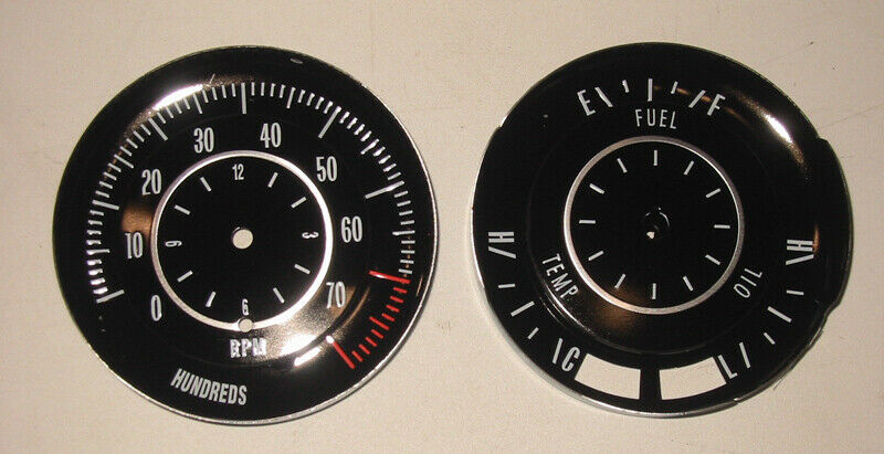 1968 69 cutlass 442 rally pack tick tock tach gauge faces Tork Photocell Wiring-Diagram
