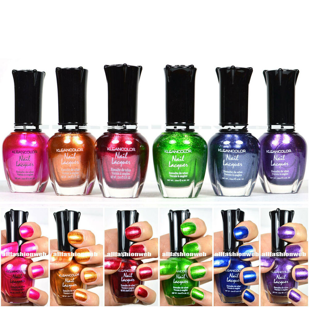 Kleancolor Nail Polish Metallic Collection #01 Lot of 6 ...