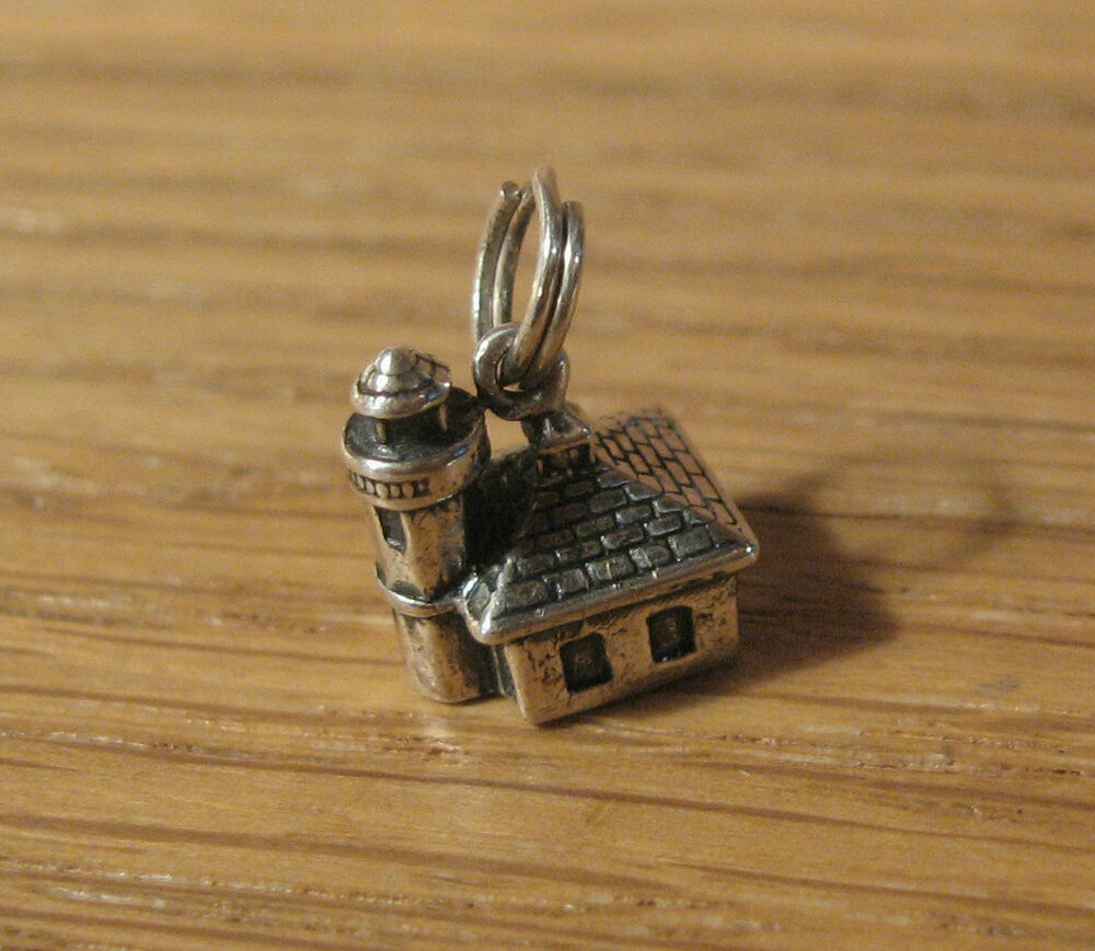 Alki point lighthouse sterling silver pendant charm for Sell gold jewelry seattle