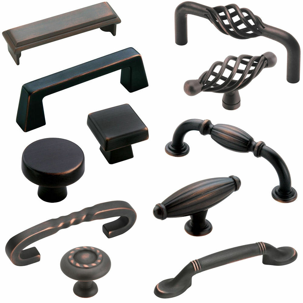 cabinet knobs and handles amerock deals rubbed bronze cabinet hardware knobs 29144