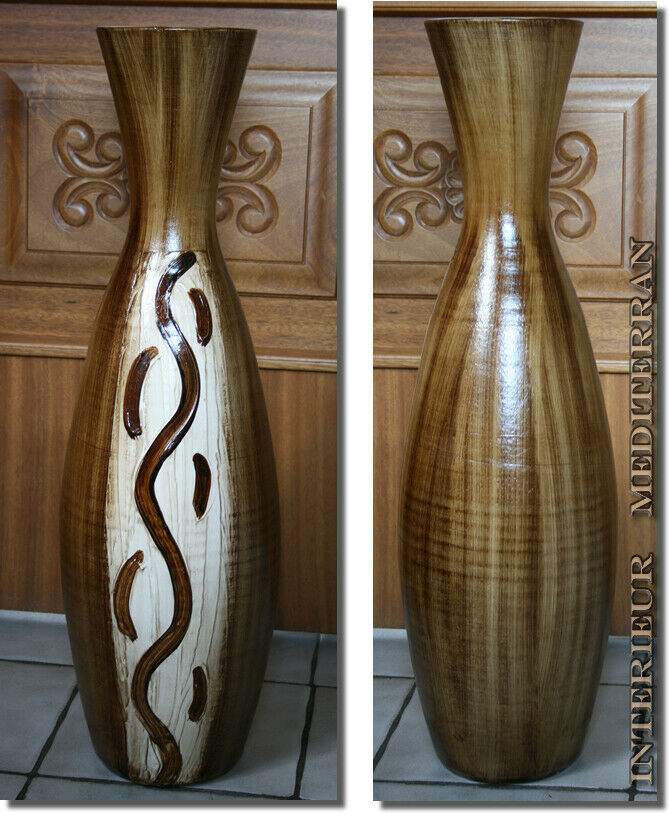 bodenvase vase dekovase 70 cm keramik mediterran afrikanisch g nstig kaufen neu ebay. Black Bedroom Furniture Sets. Home Design Ideas