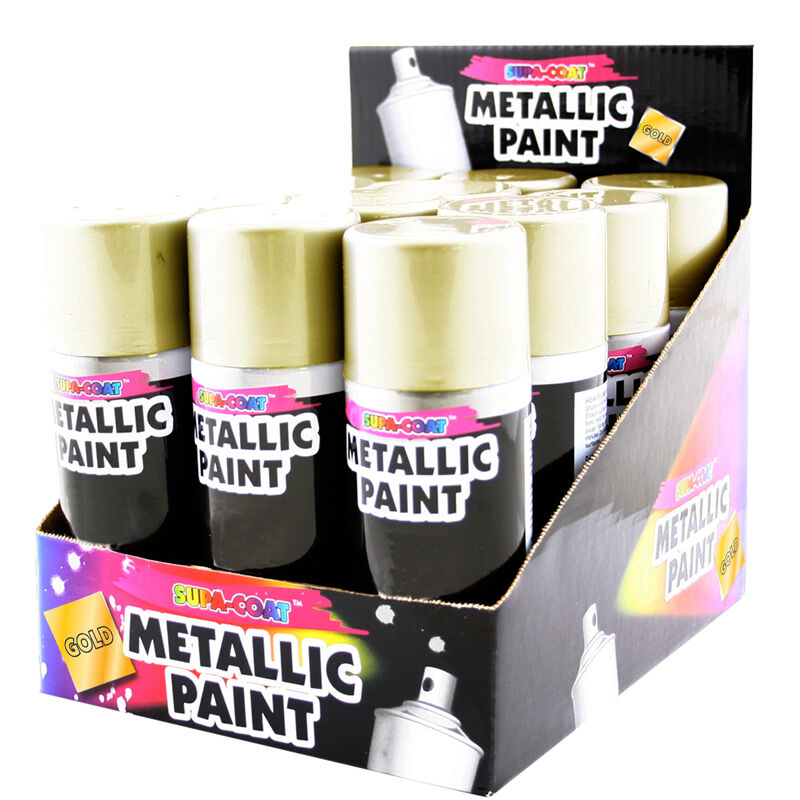 brand new 1 x metallic silver gold spray paint interior and exterior