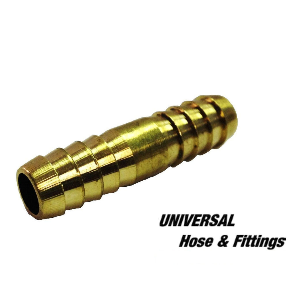 Pk brass hose barb fittings air water fuel splicer