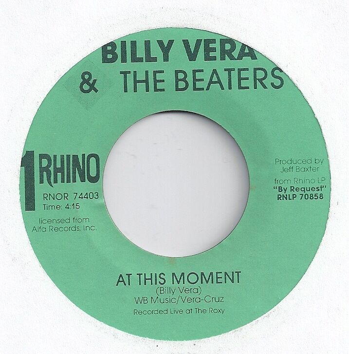 billy vera the beaters 45 at this moment 1986 1